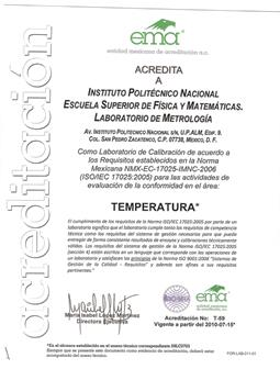 Acreditación Temperatura
